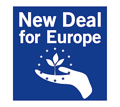 new deal 4 europe logo blu